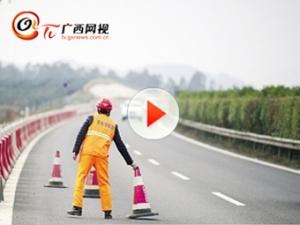 柳南高速施工点逐步收尾撤离
