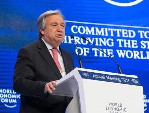 联合国秘书长出席世界经济论坛2017年年会