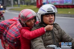 农民工陈一锋夫妇的700里骑行归乡路(图)