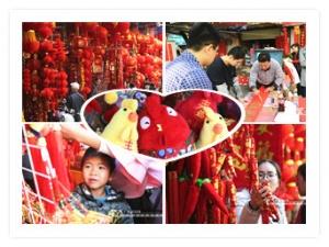 高清:春节临近 南宁街头年味渐浓