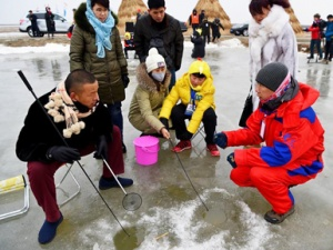 趣味冰钓蟹