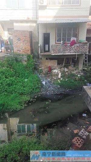 南宁乡村办开展月度抽查暗访活动 小河沟里垃圾多