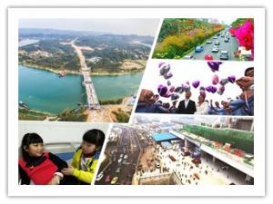 2日焦点图:龙头柳江特大桥合龙 梧柳高速年底通车