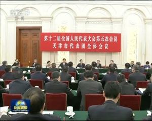 张高丽参加天津代表团审议