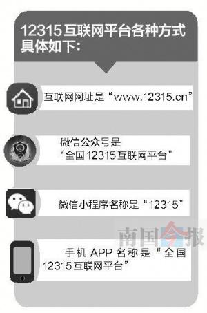 12315互联网平台上线 消费者可在电脑微信APP维权