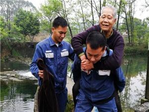 八旬老汉水坝落水五名路人救助 事发融安县浮石镇