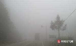 来宾市金秀局部现强浓雾天气 能见度不足30米(图)
