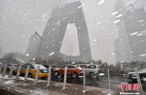 冷空气侵袭中国北方 北京局地将出现大雪
