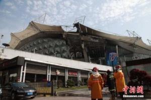 上海虹口足球场着火无人员伤亡