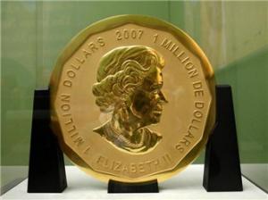 德国博物馆一枚重100公斤的金币被盗
