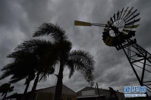 """热带气旋""""黛比""""登陆澳东北地区 2万居民被迫疏散"""