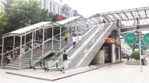 人行天桥增设电梯方便市民出行