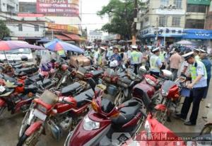 钦州交警持续开展农村摩托车专项整治行动