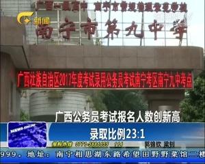 广西公务员考试报名人数创新高 录取比例23:1