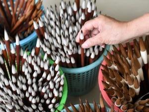 广西宾阳:一支毛笔传承的百年工匠精神(组图)