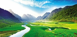 青山绿水花海成片 南宁生态美景如画