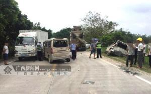 陆川:7车相撞致3人受轻伤(图)