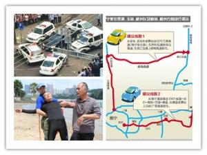 28日焦点图:南宁交警出动警力1596人查交通违法
