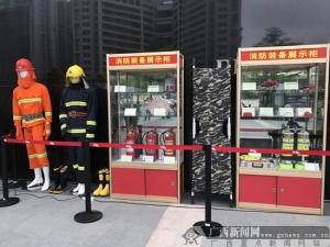 南宁一商场举行消防技能运动会