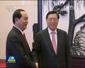 张德江会见越南国家主席