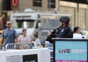 纽约时报广场安保升级