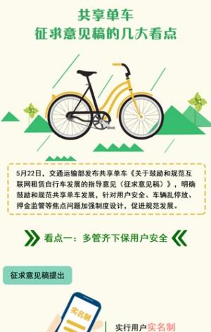图解:共享单车征求意见稿的几大看点