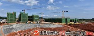 广西医科大学玉林校区项目建设正酣