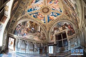 梵蒂冈博物馆的拉斐尔画室