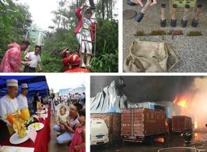6月11日焦点图:桂林尧山索道停电 众多游客悬半空
