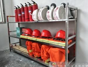 农行大新县支行设立微型消防站