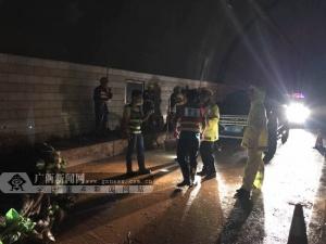 靖西:S60崇靖高速马华隧道口边坡塌方