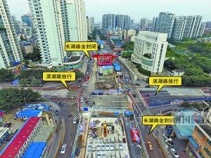 南宁长湖路两个路口将封闭施工 12月31日结束(图)