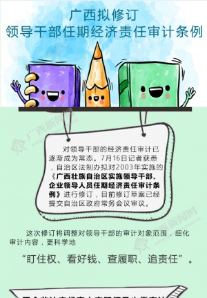广西拟修订领导干部任期经济责任审计条例