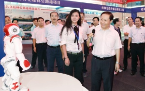 全区县域经济发展大会暨年中工作会议第一组代表在兴宾灵川鹿寨北流参观考察