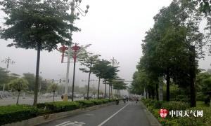 玉林清晨雾蒙蒙 7月浓雾较少见(组图)