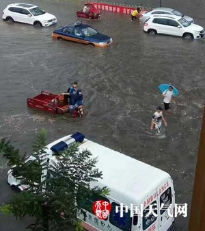 华北黄淮遭遇强降雨 陕西山西易发山洪