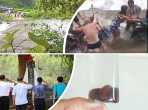 7月30日焦点图:兴安一峡谷突发山洪 4名游客遇难