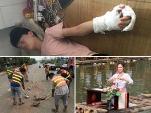 8月3日焦点图:南宁18名违章泥头车司机扫街