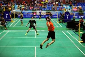 全运会群体羽毛球预赛激战正酣 广西已有10人晋级
