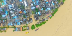航拍:融江水位暴涨