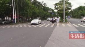 南宁:斑马线前不礼让 两司机均被扣3分罚款150元