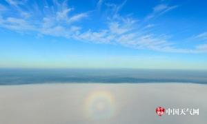 高清组图:钦州那雾山惊现佛光普照奇观