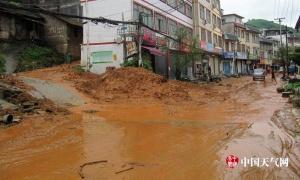 短时强降雨袭击 百色旧州镇受灾严重