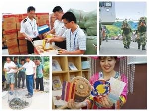 9月9日焦点图:东博会展品陆续运抵南宁