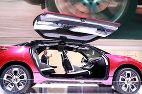 中国新能源车闪亮法兰克福车展