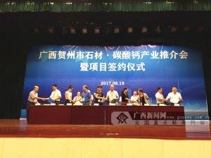 贺州市举行石材·碳酸钙产业推介会 签约逾46亿元