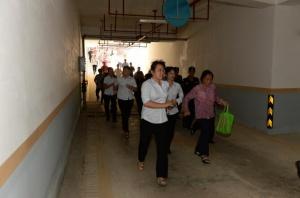 崇左市人防办组织开展市民紧急疏散隐蔽演练活动