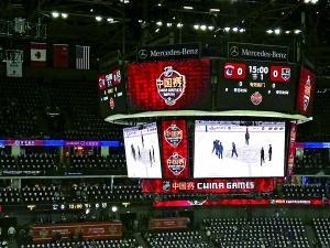 冰球国门孙泽浩试训NHL首届中国赛担任加人队替补
