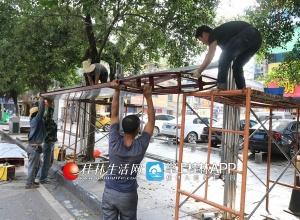 桂林:建干路新建公交候车亭 市民出行更方便(图)