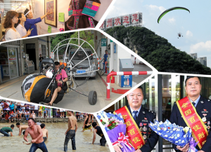 """9月25日焦点图:柳州一""""迷你飞机""""开进加油站"""